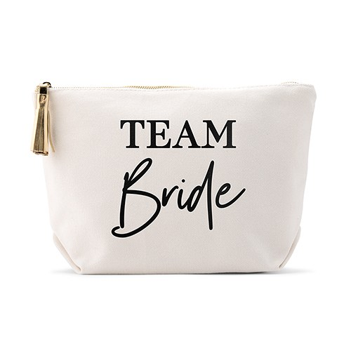 Personalized Canvas Makeup And Toiletry Bag For Women - Team Bride
