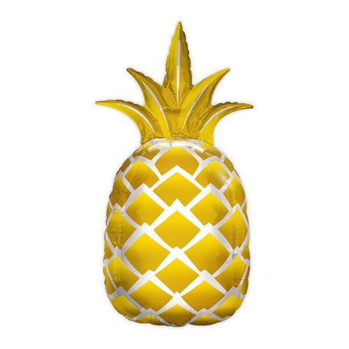 Mylar Foil Helium Party Balloon Decoration - Giant Metallic Gold Pineapple