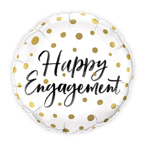 Mylar Foil Helium Party Balloon Wedding Decoration - Gold Polka-Dot Engagement