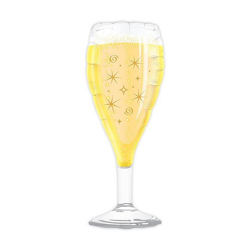 Mylar Foil Helium Party Balloon Decoration - Novelty Champagne Glass