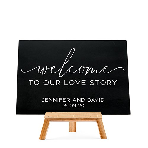 Custom Wedding Chalkboard Sign - Welcome Script