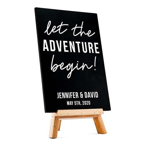 Custom Wedding Chalkboard Sign - Adventure