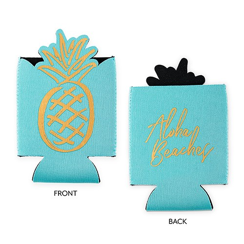 Neoprene Foam Beer Can Party Koozie - Aloha Beaches Bachelorette