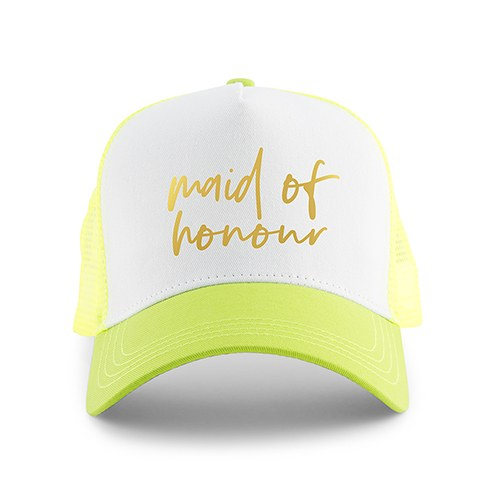 80a7dbe0d2f Wedding Party Snapback Trucker Hats - Maid of Honour - The Knot Shop