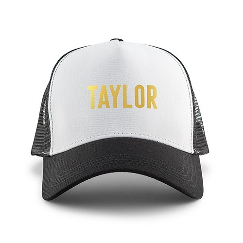 Wedding Party Snapback Trucker Hats - Block Font