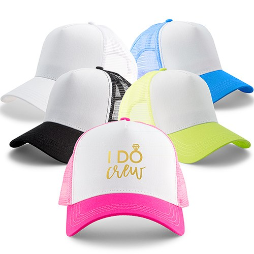Wedding Party Snapback Trucker Hats - I Do Crew
