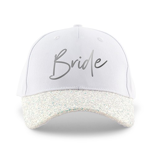 Women's Wedding Party Glitter Hats - Bride