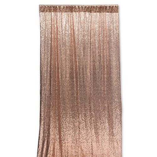 Custom Wedding Photo Backdrop Decoration - Rose Gold Sequin