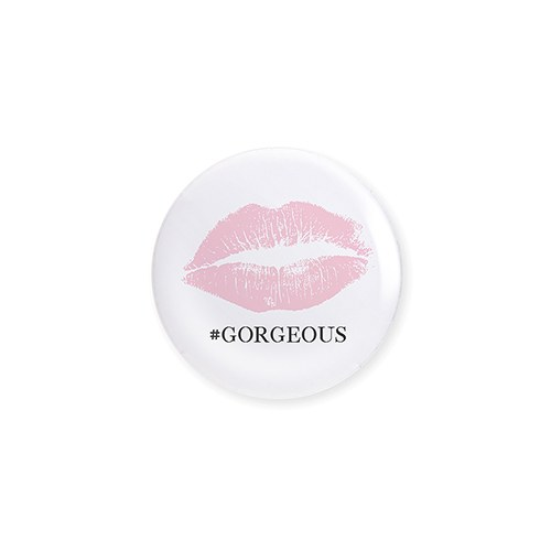 Personalized Bridal Party Wedding Pins - Lips