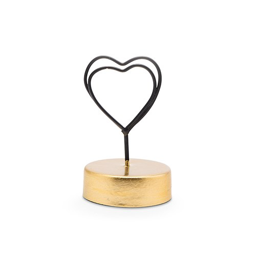 Small Wedding Table Place Card Holder - Double Heart - Set of 6