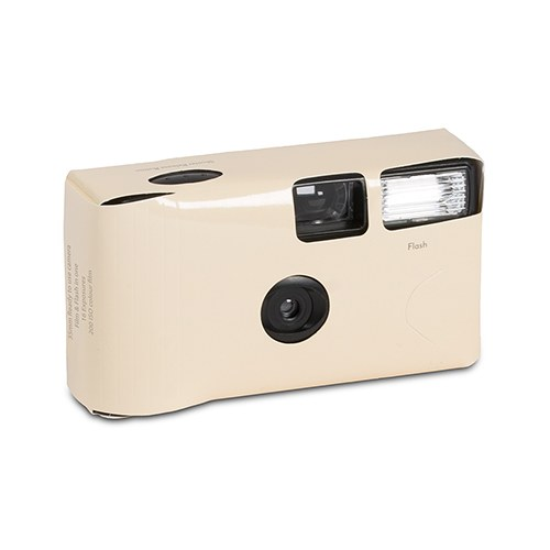 Ivory Single Use Camera – Solid Color Design - The Knot Shop