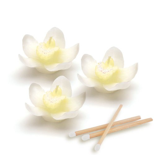 White Orchid Wedding Favor Candles