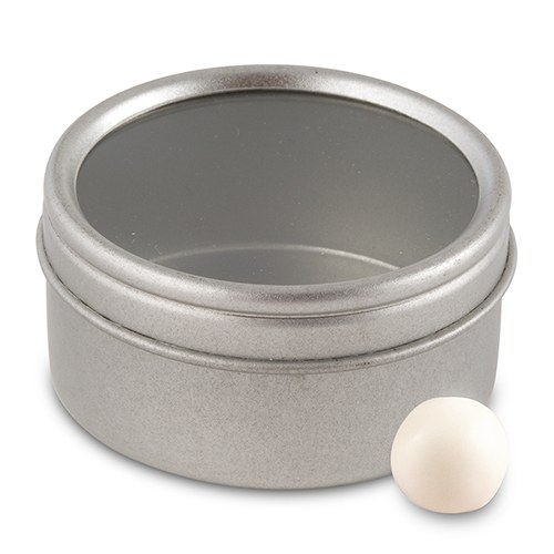 Round Tin With Lid Favour Container Confetti