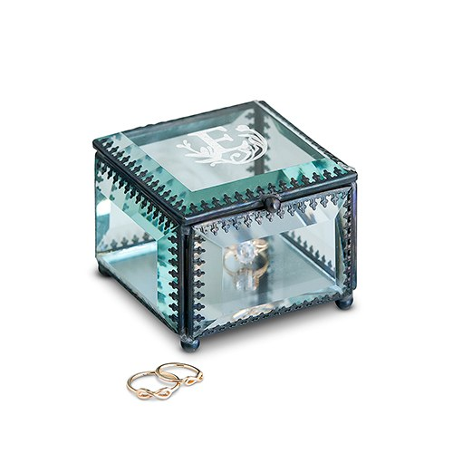Vintage Inspired Glass Jewelry Box - Modern Fairy Tale Monogram Etching  sc 1 st  Weddingstar & Vintage Inspired Glass Jewelry Box - Modern Fairy Tale Monogram ... Aboutintivar.Com