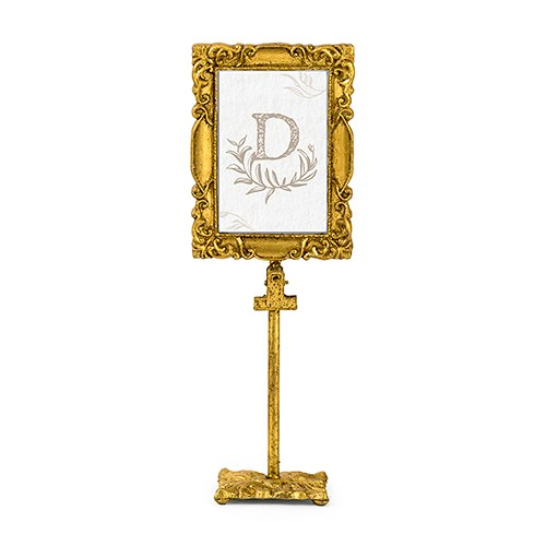Rectangle Baroque Frame Table Sign Holder - Gold - Confetti.co.uk