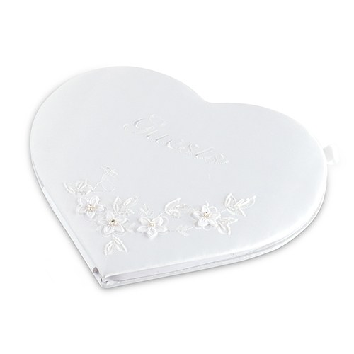 Floral Fantasy Heart Shaped Wedding Reception Guest Book