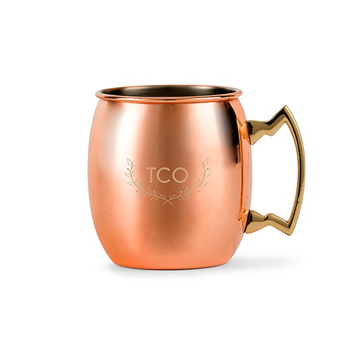 Personalized Copper Moscow Mule Drink Mug – Woodland Monogram Engraving