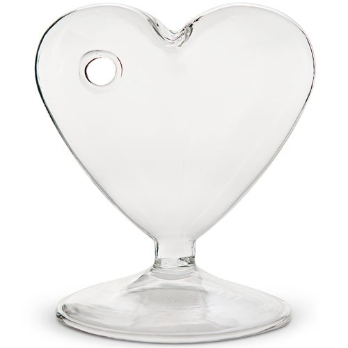 Small Clear Heart Shaped Vase The Knot Shop