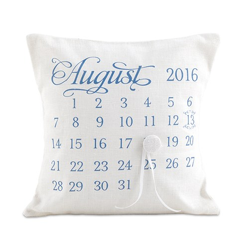 Notable Personalized Ring Pillow With Wedding Date Design The