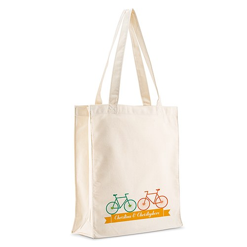 Double Bicycle Personalized 100% Cotton Twill Tote Bag