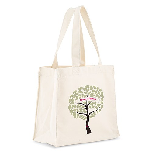 Love Bird Tree Personalized 100% Cotton Twill Tote Bag