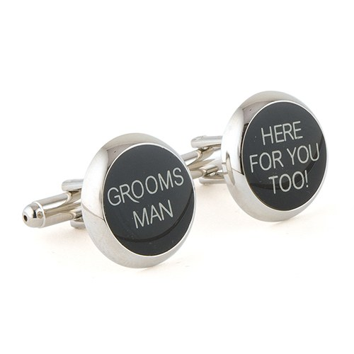 Wedding Novelty Printed Pair of Cufflinks Groomsmen Gift Set