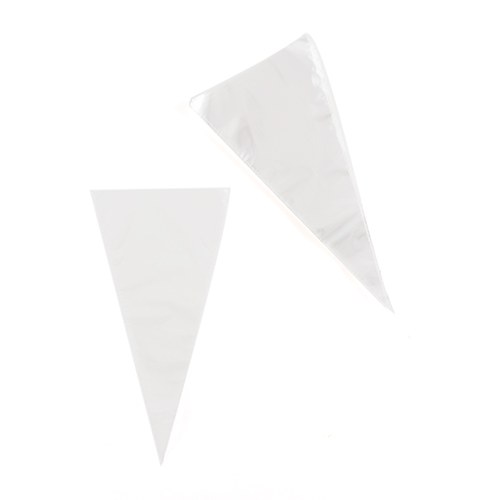 Clear Cellophane Cone Shaped Wedding Favor Bags
