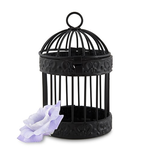 Small Black Birdcage Favor Containers