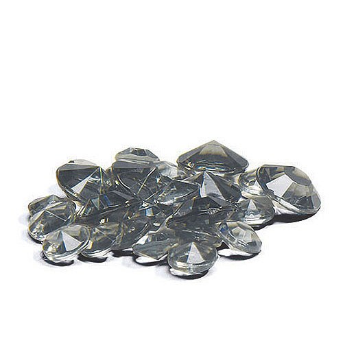 Acrylic Diamond Shaped Confetti - Black