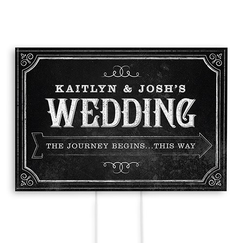 Personalized Directional Poster Sign with Chalkboard Print Design