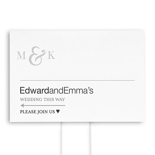 Monogram Simplicity Personalized Directional Poster Sign   Simple Ampersand