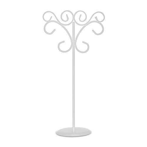 Ornamental Wire Stationery Holders Tall   White