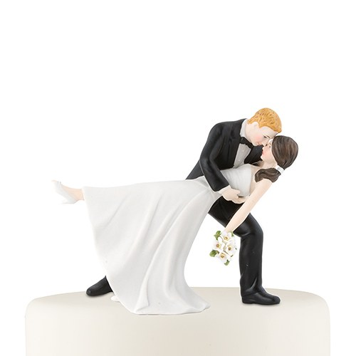 wedding cake topper groom dipping bride quot a dip quot and groom figurine 26328