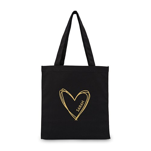 Personalized Heart Canvas Tote Bag - The Knot Shop