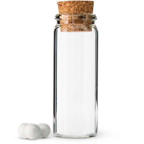 Small Glass Bottle With Cork Stopper The Knot Shop