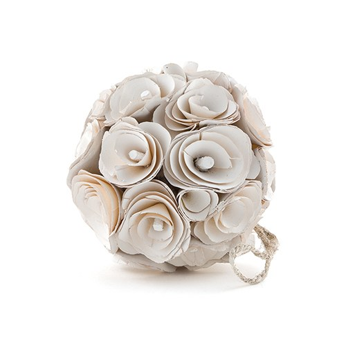 Floral Pomander Ball Made With Wood Curls Small