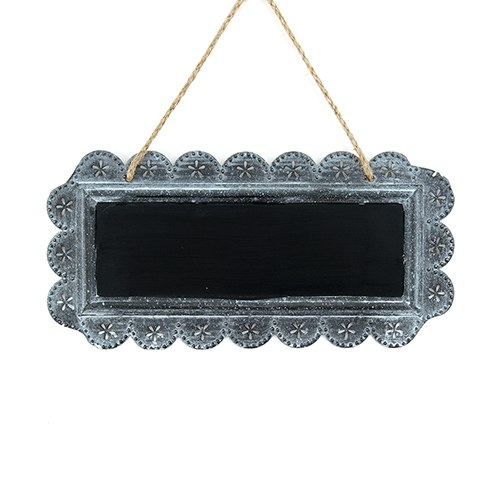 Large Scalloped Frame Tin Signs with Chalkboard - The Knot Shop