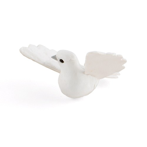 Miniature White Wedding Doves in Flight Favor Decor