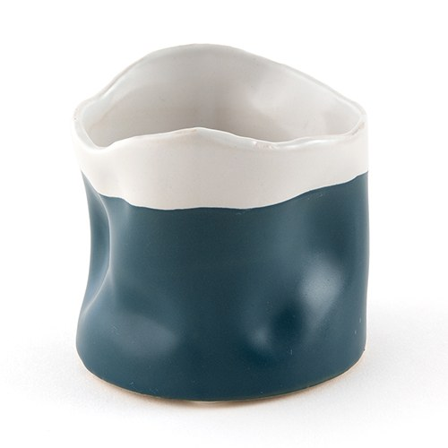 Miniature Pinch Pots with Two-Tone Finish