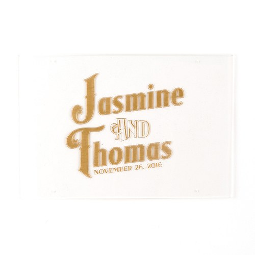 Black and Gold Opulence Engraved Personalized Acrylic Sign Large