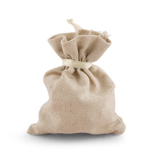 Mini Linen Drawstring Pouch Favor