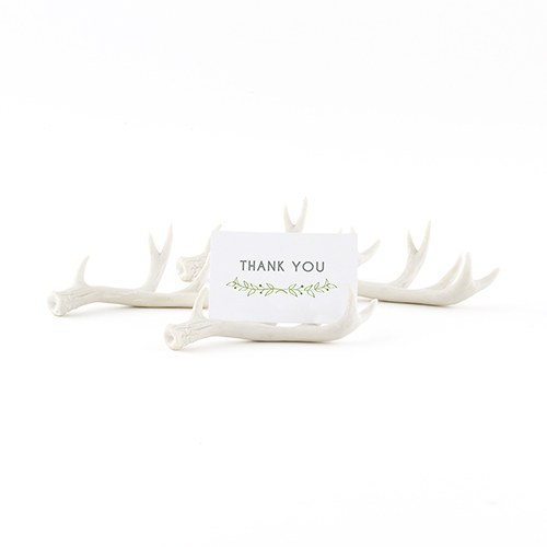 Miniature Faux Antler Stationery Card Holder