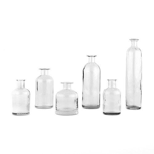 Decorating Glass Bottle Set - Clear