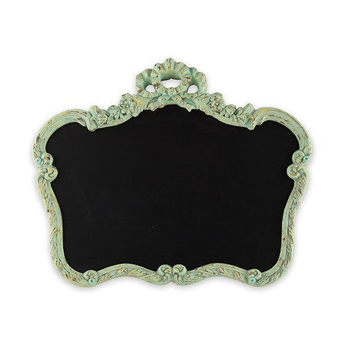 Blackboard in Ornate Vintage Frame in Aged Green