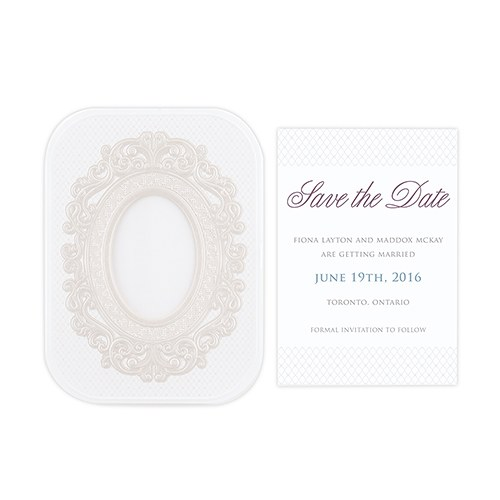 Pearls and Lace Laser Embossed Accessory Cards with Personalization