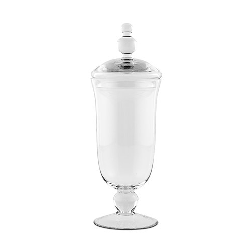large glass apothecary candy jar footed vase with lid. Black Bedroom Furniture Sets. Home Design Ideas