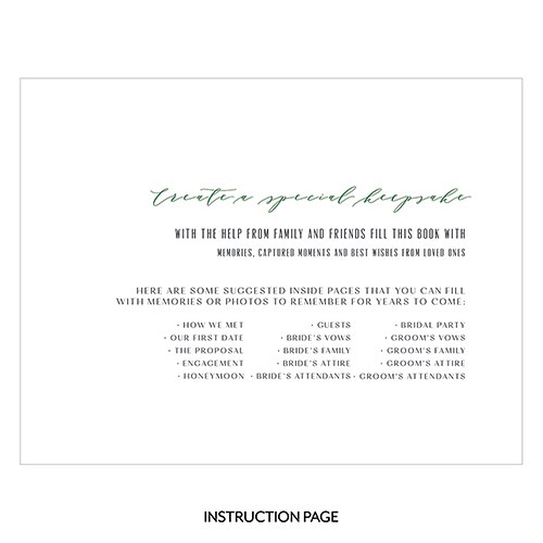Personalized Clear Acrylic Wedding Guest Book - Love Greenery