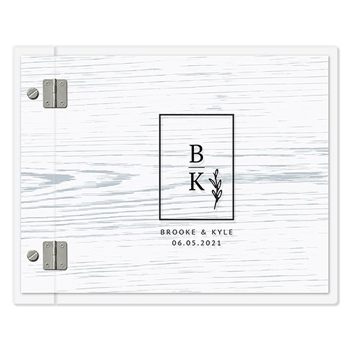 Personalized Clear Acrylic Polaroid Wedding Guest Book - Rustic