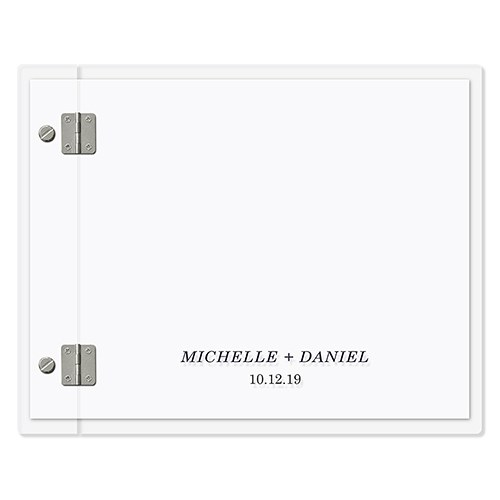 Personalized Clear Acrylic Polaroid Wedding Guest Book - Classic Couple