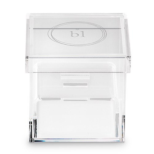 Acrylic Wedding Ring Box - Monogram Simplicity Etching